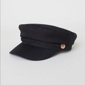 Black H&M Captain's Cap